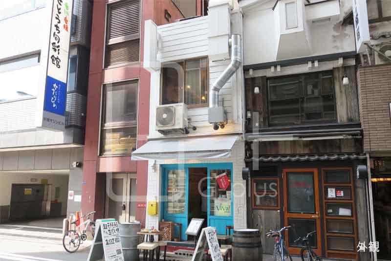 新橋駅前の1階・2階飲食店舗のイメージ