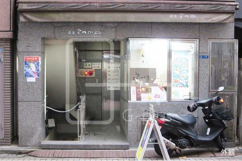 銀座8丁目金春通りの1階貸店舗のイメージ