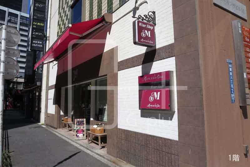 銀座8丁目外堀通りの1階路面店のイメージ