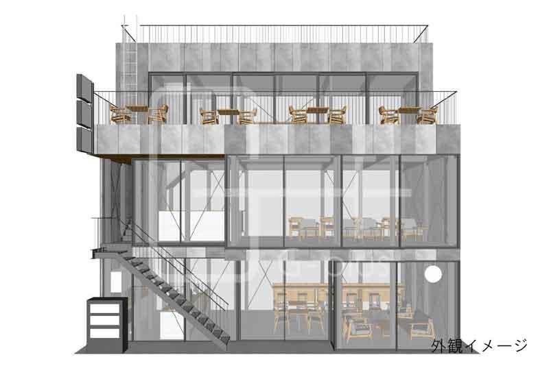 烏森神社至近の新築ビル 1階のイメージ