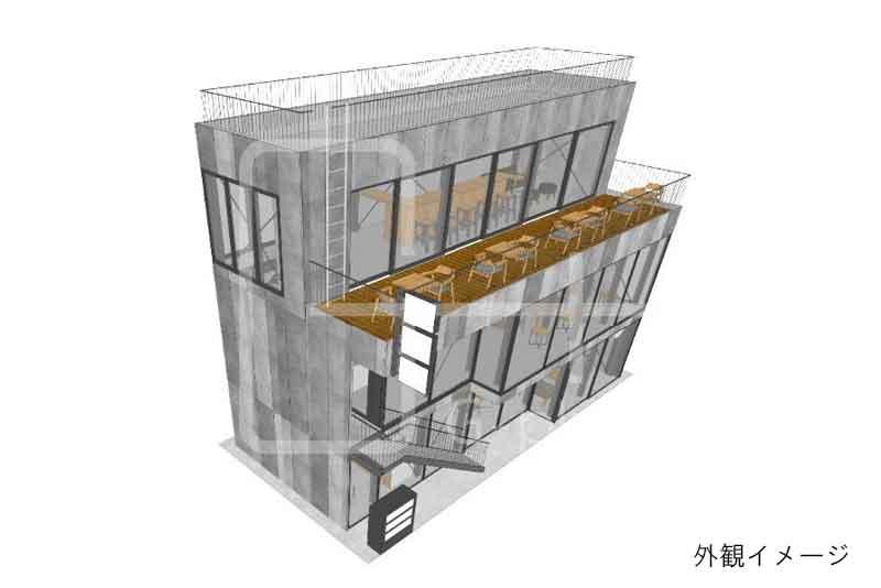 烏森神社至近の新築ビル 2階のイメージ